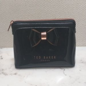 Ted Baker Black with Rose Gold Makeup Bag